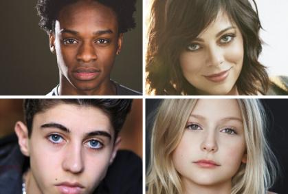 Austin Crute, Krysta Rodriguez, Alyvia Alyn Lind e Gregory Casyan - Elenco da 1° Temporada de Daybreak
