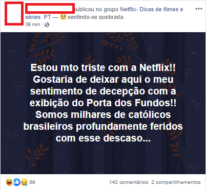 Cristãos protestam contra especial do Porta dos Fundos na Netflix
